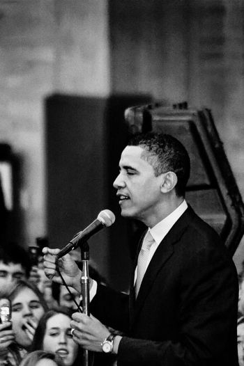 Barack Obama Black & White Crowds Obama Obama 2008 Speech Adult Adults Only Arts Culture And Entertainment Black And White Black And White Photography Black&white Blackandwhite Blackandwhite Photography Blackandwhitephotography Campaign Classical Music Crowd Day Indoors  Men Music Musical Instrument Musician Occupation One Man Only One Person Only Men People Performance Playing Presidential Campaign Real People Stump Speech