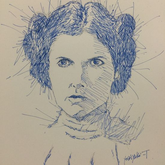 Princess Leia Carrie Fisher Starwars Art, Drawing, Creativity ArtWork Art MyDrawing Drawing スターウォーズ レイア姫