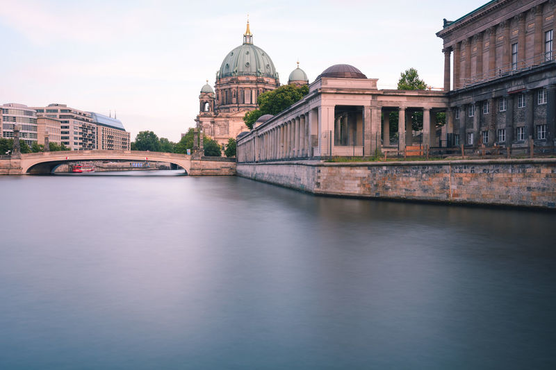 Berlin Cathedral at sunset Berlin Berlin Cathedral Berlin Mitte Berliner Dom Copy Space Spree River Berlin Architecture Belief Building Building Exterior Built Structure City Dome Museum Island Berlin Nature No People Outdoors Place Of Worship Religion River Sky Spirituality Summer In Berlin Sunset In Berlin Tourism Travel Travel Destination Travel Destinations Water Waterfront