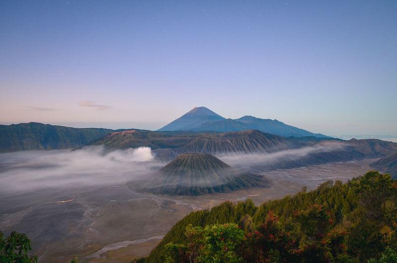 Landscape view of bromo tengger semeru national park, east java, indonesia