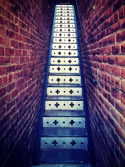 Stairs off Brewery Gulch in Bisbee, Arizona Vanishing Point Stairs Architecture Arizona Bisbee Perspective Brick Urban Geometry IPSPerspective Learn & Shoot: Leading Lines IPS2016Composition Pattern Pieces Fine Art Photography