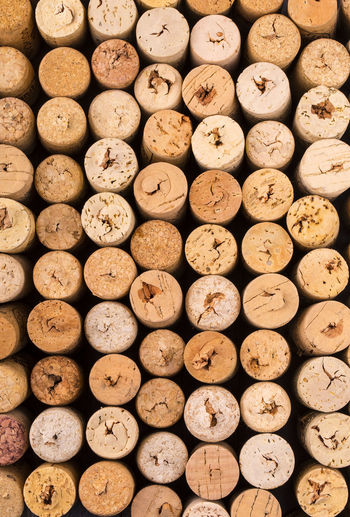 Texture cork from wine bottles.
