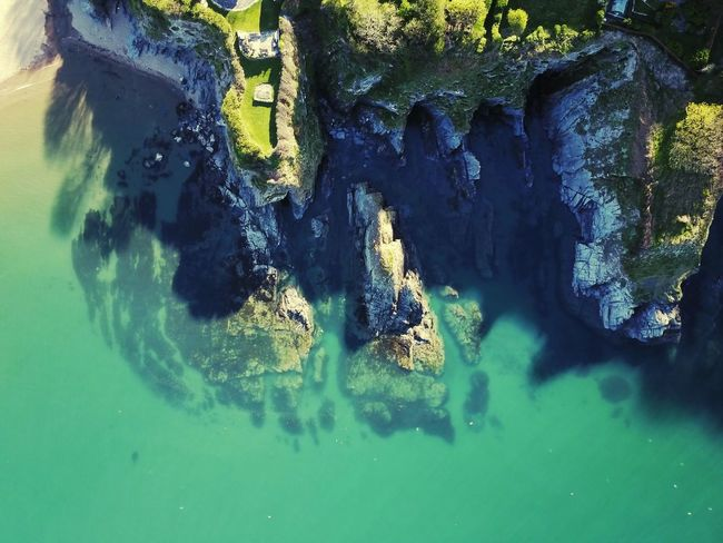 Taken in Aberporth South Wales. Shot using my Mavic Pro Water Nature Beauty In Nature Sea Clear Sky Tranquility Drone  DJI Mavic Pro Aireal