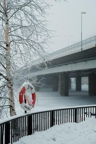 Life Saver Cold Temperature Life Ring Lifering Railing Snow Winter