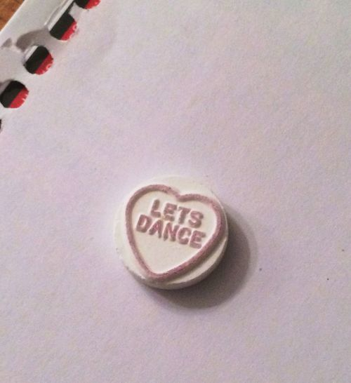 Conversation Heart Candy Let's Dance Candy With Text Valentines Candy Sweet Hearts David Bowie - Let's Dance Candy On A Notebook Teenybopper