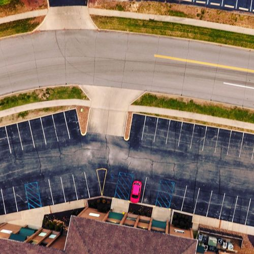 Parking lot High Angle View Day Modern Cityscape Missouri Columbia, Missouri Downtown District Missouriphotography Autumn Winding Road Tranquil Scene EyeEmNewHere ColumbiaMo Parking Lot Water No People Outdoors Road Swimming Pool