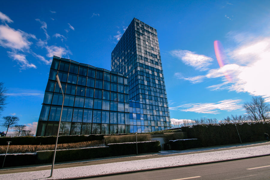 SZ Hochhaus Architecture Building Exterior Built Structure City Cloud - Sky Eye4photography  EyeEm Best Shots EyeEm Gallery EyeEm Masterclass Low Angle View Modern Munich München Office Building Exterior Outdoors Scenic Scenics Sky Skyscraper Süddeutsche Zeitung Tower The Architect