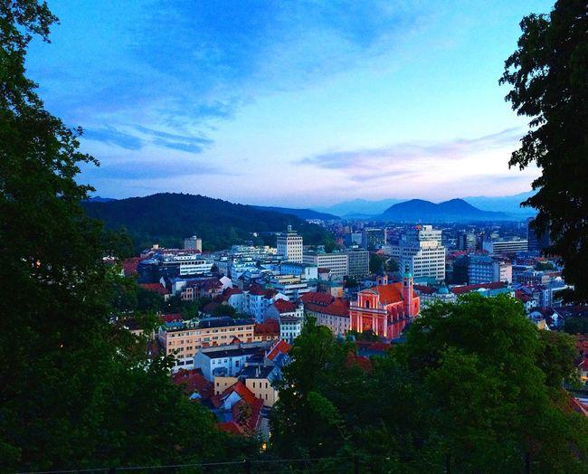 Ljubljana Sunset Morning Sky View City Colors Citylife
