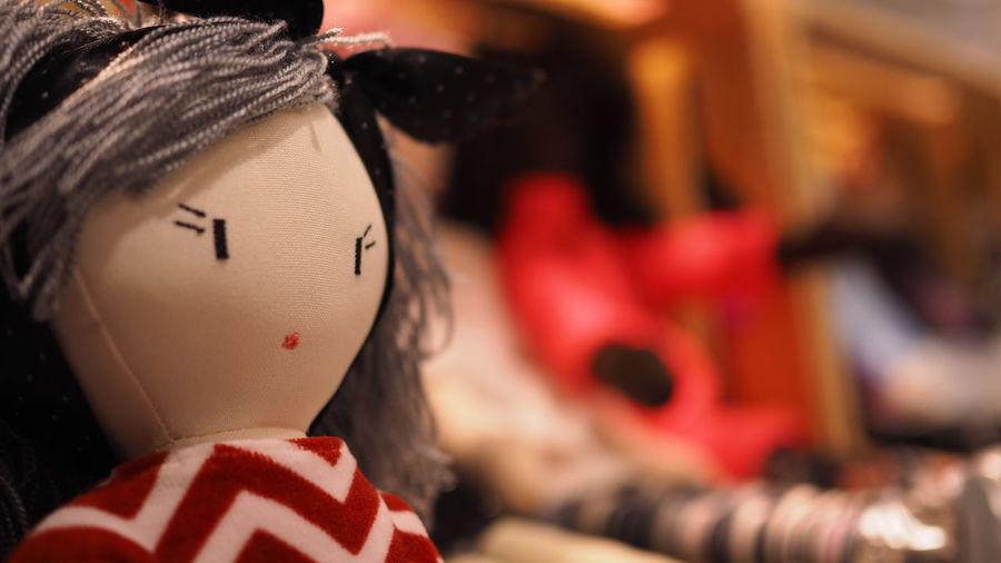 Close up of mannequin