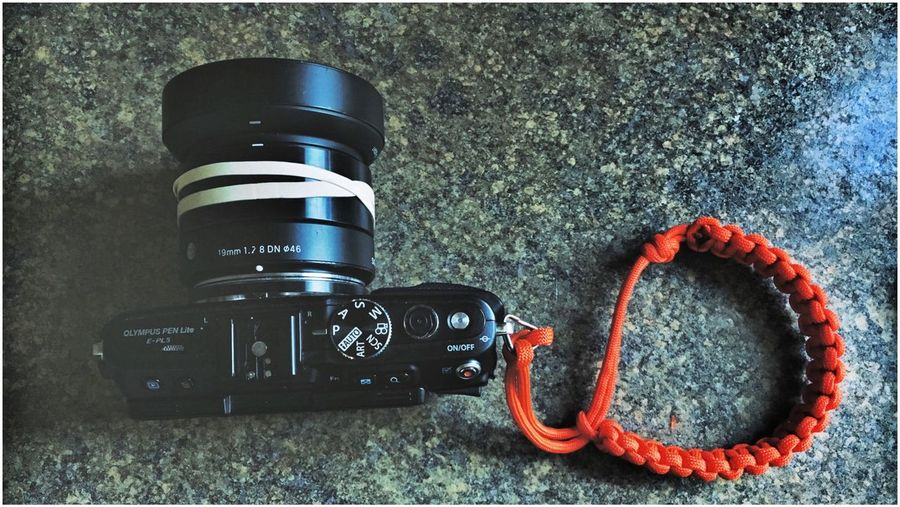 StrappedUp. Olympus Sigma19mmArt Mirrorless Epl5 Pen Lite Homemade Wriststrap Paracord