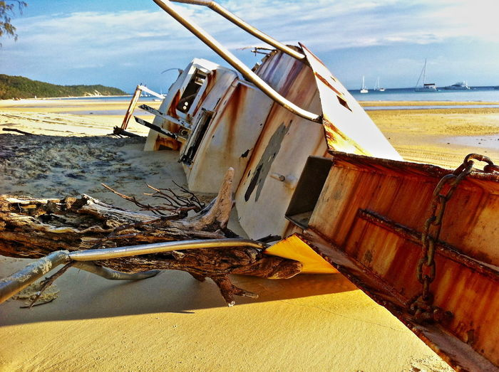 Skeleton of the past Hull Rust Rusty Boat Abandoned Beach Beach Photogrqphy Beachphotography Boat Wreck Bowsprit Damaged Disaster Driftwood Nautical Vessel No People Rusting Yacht Rusty Metal Rusty Metal Surface Sand Sea Shipwrecked Steel Yacht Storm Damage Water Yacht Yacht Wreck