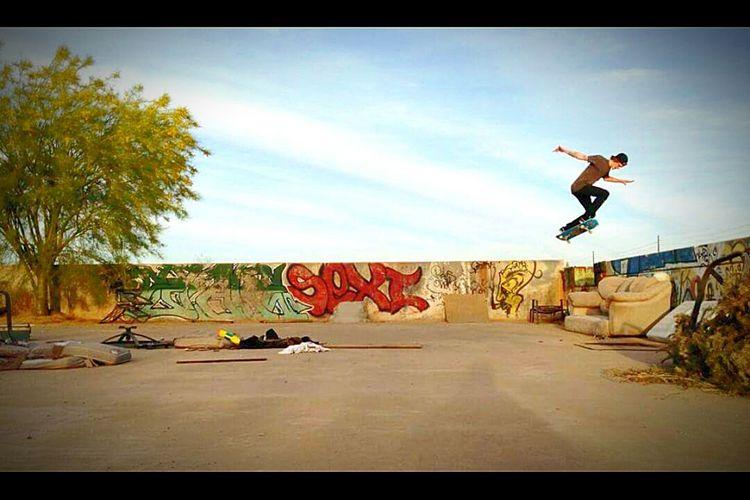 Adrenaline Junkie DIY Skatespot Arizona Queen Creek Empire Rd. Skateboard Folklife Paradise Seeker First Eyeem Photo