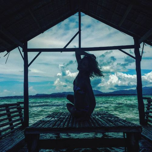Sky Sea Women Beauty In Nature One Person Day Young Women Bluesky Feel Alive Beautygirl First Eyeem Photo Feelfree Flyinsky Water Enjoy The New Normal Beauty In Nature Lovebefree Lovelife Fly Flygirl Cloud - Sky Relaxing Relaxing Time Relaxing Moments Yoga Women Around The World