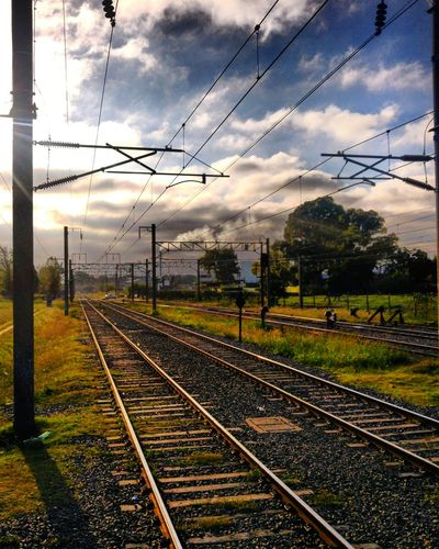 Llavallol Tren Train Buenosaires Argentina Amanecer Railroad Track Rail Transportation Sky Transportation Cloud - Sky No People Tree Day Outdoors Nature