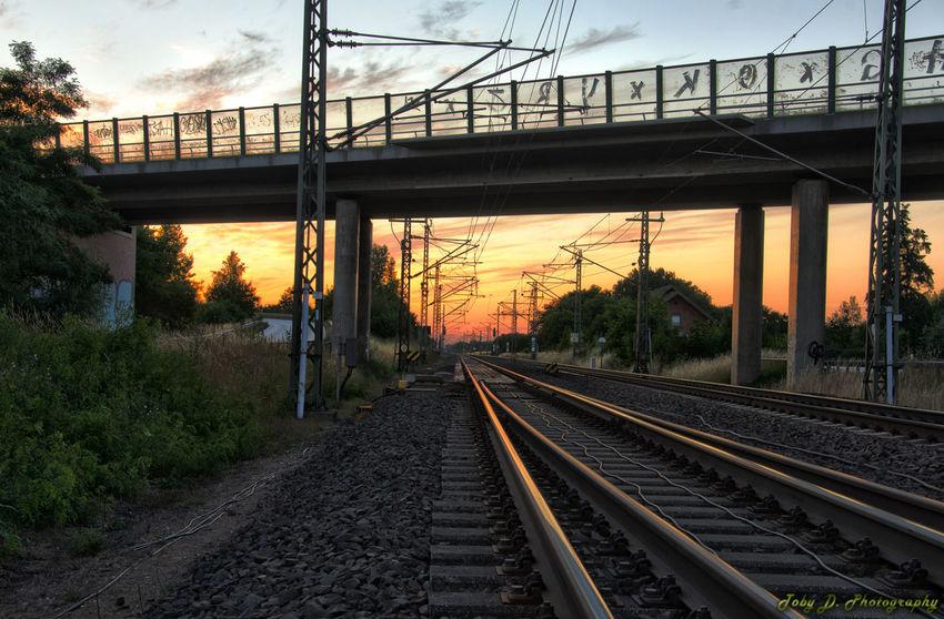 an der B5 Brücke Train Brücken HDR Streetphotography Hdr Edit