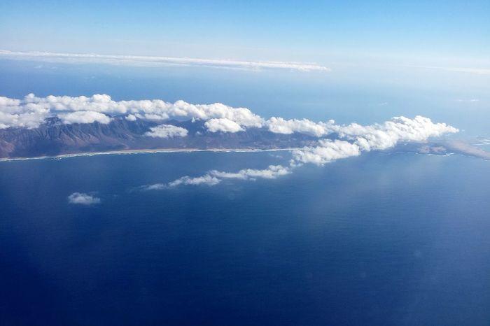 Water Airplane Sea Blue Sky Cloud - Sky Plane Sky Only Heaven Cumulus Cloud Tranquil Scene Scenics Rocky Mountains Calm Idyllic Cloudscape