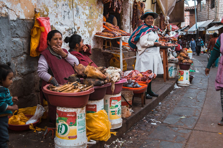 Exploring the street market just south of the San Pedro Market. Andes Backpacking City Cityscape Exploring Inca Latin America City Colonial Day Discover  For Sale Group Of People Incidental People Market Occupation Real People Retail Display Selling South America Street Street Market Travel Destinations Urban Women The Street Photographer - 2018 EyeEm Awards The Traveler - 2018 EyeEm Awards