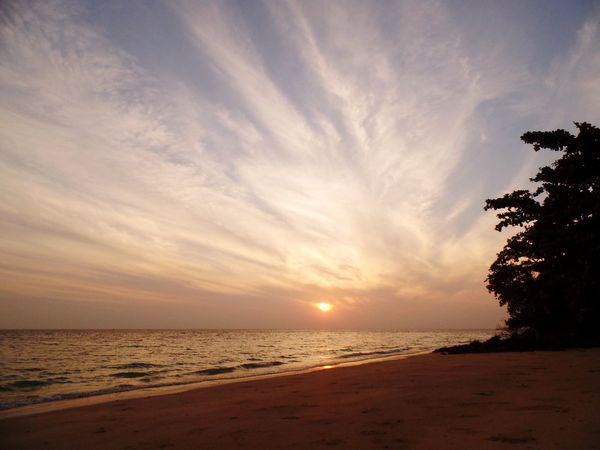 Sea Scenics Sunset Beach Beauty In Nature Tranquil Scene Tranquility Sand Horizon Over Water Sky Sun
