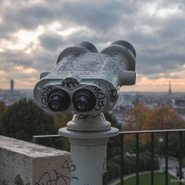 Wall-e Jumelles Binoculars Panoramique  à la recherche du chat errant