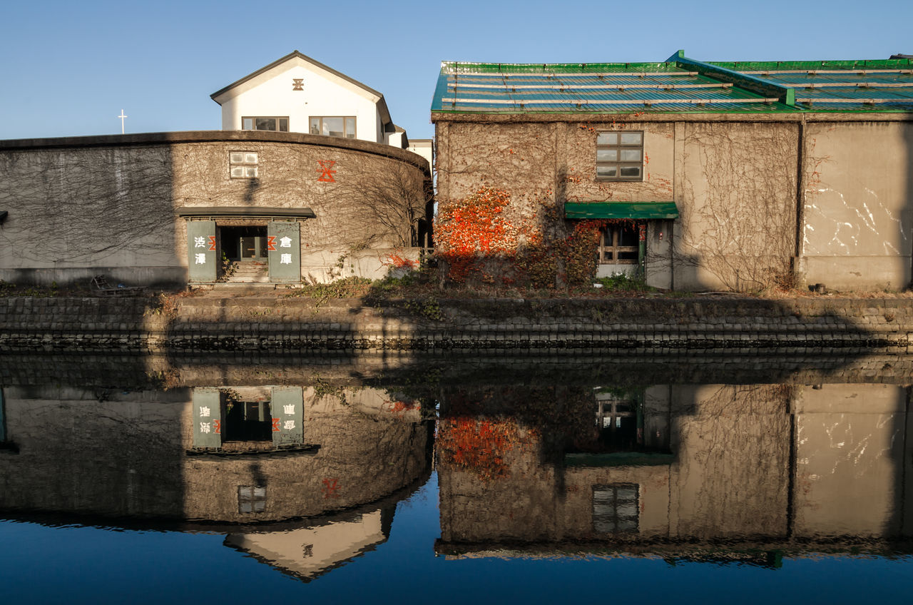 architecture, building exterior, built structure, house, water, waterfront, reflection, no people, outdoors, residential building, sky, day, nature