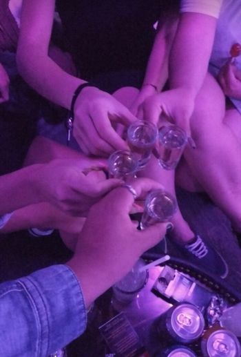 Human Hand Celebration Human Body Part Women Drinking Glass Holding Lifestyles Indoors  Togetherness Nightclub Close-up Day Adult People