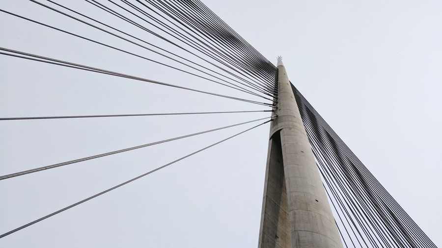 Connection Cable Sky Power Line  Power Supply Outdoors Electricity  Business Finance And Industry Telephone Line No People Day Technology Bridge Ada Ada Bridge Most Most Na Adi Beograd Belgrade Ada Ciganlija Serbia Monument