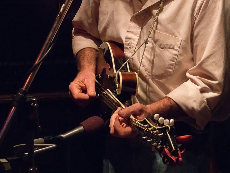 Bluegrass Mandolin Musician Plucking An Instrument