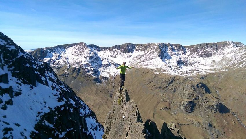 Absolute Stupidity Standing Aloft The Pinnacle On Pinnacle Ridge St Sunday Crag Mountain Adventures Not For Sale