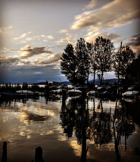 Water Reflection Nature Lake Flood Sky Accidents And Disasters Outdoors Tree Tranquility Beauty In Nature Environment Sunset Extreme Weather Scenics No People Cloud - Sky Natural Disaster Day Trasimenolake 3XSPhotography
