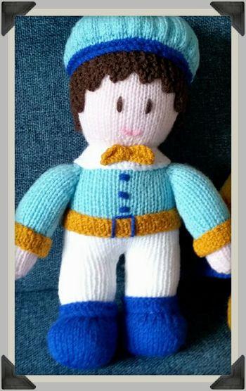 43 Golden Moments Stuffed Toy Hobby Craft Dolls Knitted  Pretendplay Boy