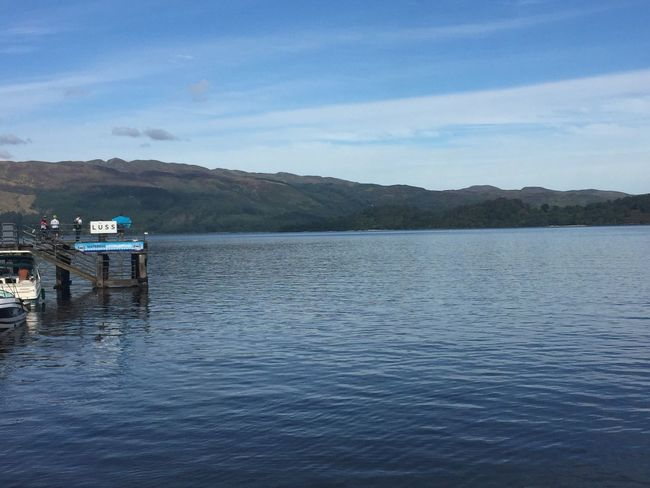 Tranquility Nature Calm Beauty In Nature Outdoors Today In Scotland LochLomond Non-urban Scene Water Blue Day Remote Tranquil Scene Sky Pier