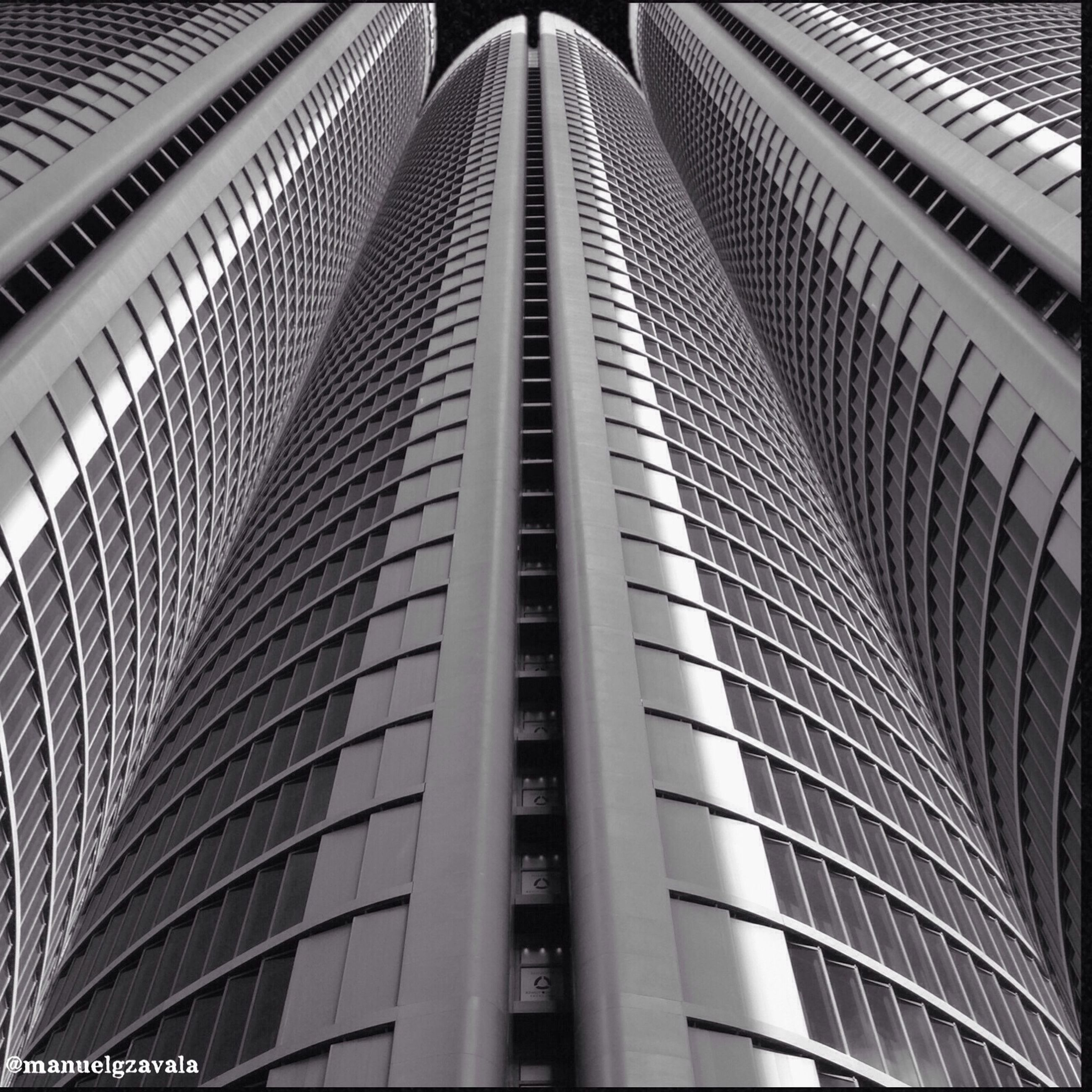 architecture, built structure, low angle view, building exterior, modern, repetition, pattern, office building, city, building, skyscraper, diminishing perspective, in a row, tall - high, no people, architectural feature, day, outdoors, design, tower