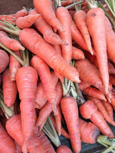 Baby Carrots Thailand EyeEm Selects Carrot Vegetable Market Food And Drink Food Root Vegetable Raw Food For Sale Full Frame Healthy Eating Outdoors Day Large Group Of Objects