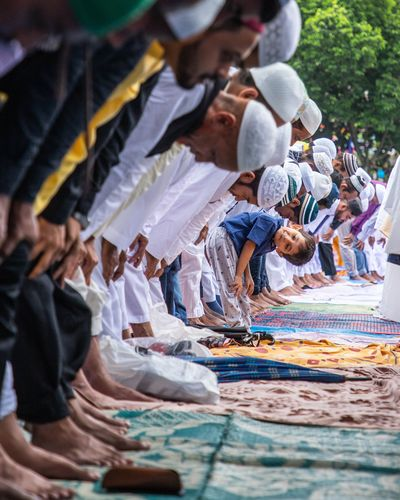 People praying at mosque