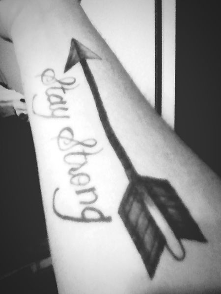 StayStrong♥ Life White&Black MyFirstTattoo