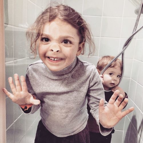 Shower fun Funny Children Shower Faces Funny Faces