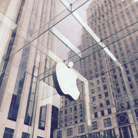 Architecture Building Exterior Built Structure Low Angle View No People Day Indoors  Modern Apple Apple Store 5th Av. / New York Apple Store Manhattan New York Manhattan New York City NYC New York City Life