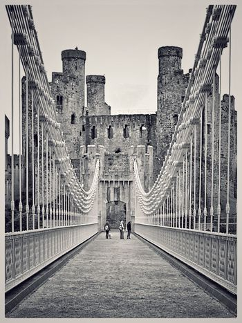 Conwy Conwy Castle Wales North Wales Bridge Bridges United Kingdom Castle Castles Showcase: January The Architect - 2016 EyeEm Awards Fine Art Photography Pivotal Ideas Monochrome Photography