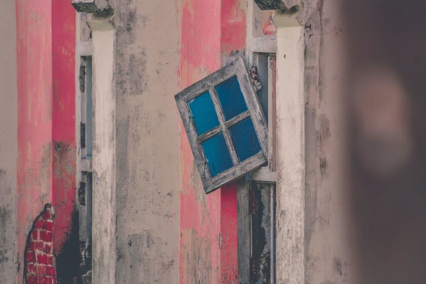 Tatters. EyeEm Selects Multi Colored Architecture Built Structure No People Outdoors Ruins Old Tatters Window Pane Dull Contrast Lightroom Cc Church Abandoned Places Travel Photography