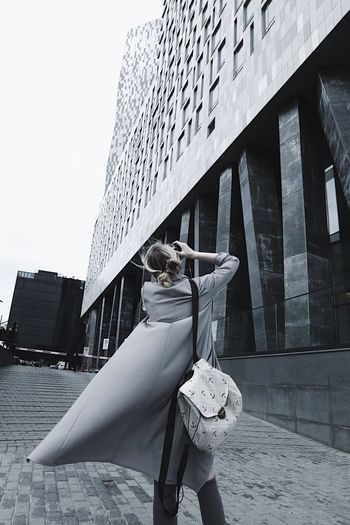 Architecture Built Structure Building Exterior One Person Day Outdoors Modern Real People City Sky Well-dressed One Woman Only Young Adult Adults Only People Adult Girl Travel Vscocam