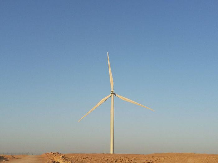 Clean energy near Riyadh, Saudi Arabia. Clear Sky Blue Sand Desert Beach Social Issues Sustainable Resources