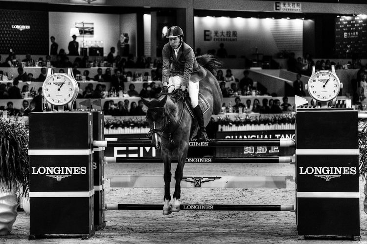 Hong Kong Horse Riding Black And White Equestrianphotography Longines Master Longinesequestriancollection