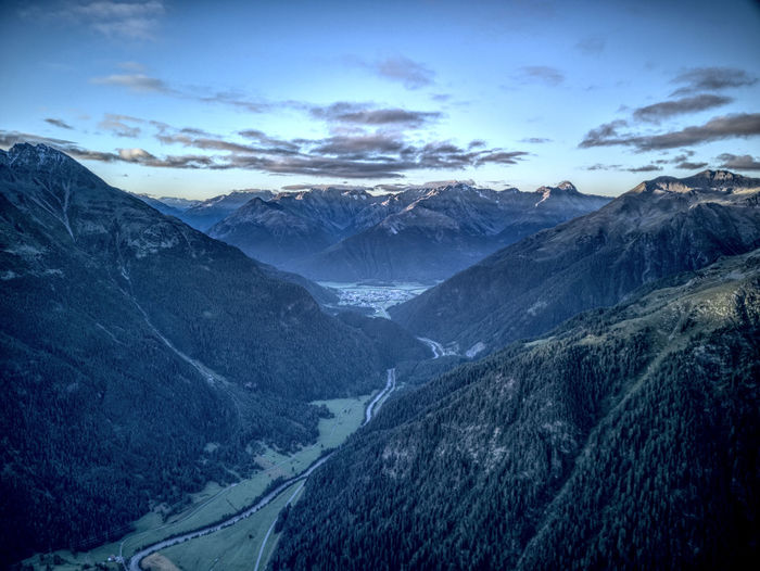 Drone  EyeEm Nature Lover Beauty In Nature Cold Temperature Dji Dronephotography Engiadina Engiadinabassa Landscape Mavic Mountain Mountain Range Nature No People Outdoors Scenics Silence Sunrise Swiss Swiss Alps Swiss Mountains Tranquil Scene