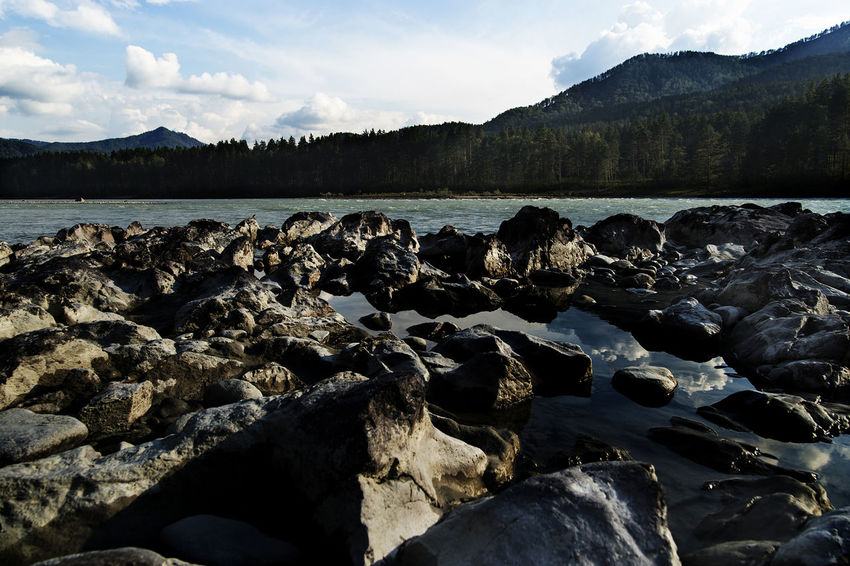 Altai Beach Beauty In Nature Day Lake Mountain Nature No People Outdoors Pebble Beach Rock - Object Scenics Sky Tranquil Scene Tranquility Water