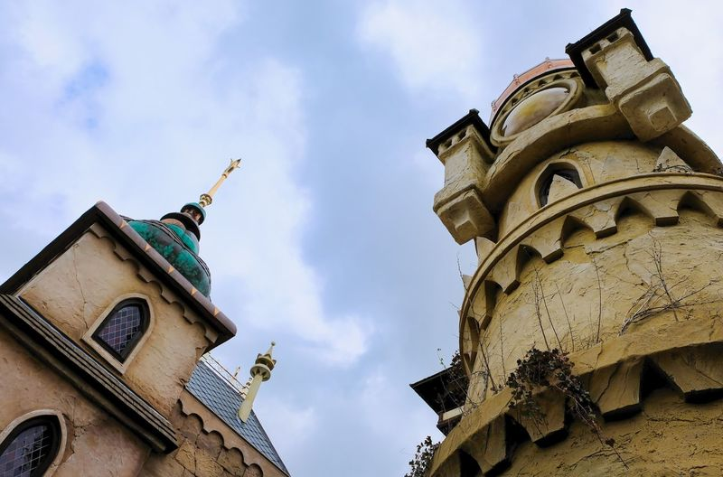 Attraction theme park the Efteling, Kaatsheuvel, the Netherlands. Low Angle View Sky Cloud - Sky Architecture Built Structure Building Exterior Spirituality Day Nature No People Building Religion Belief Place Of Worship Representation Sculpture History The Past Outdoors Ornate