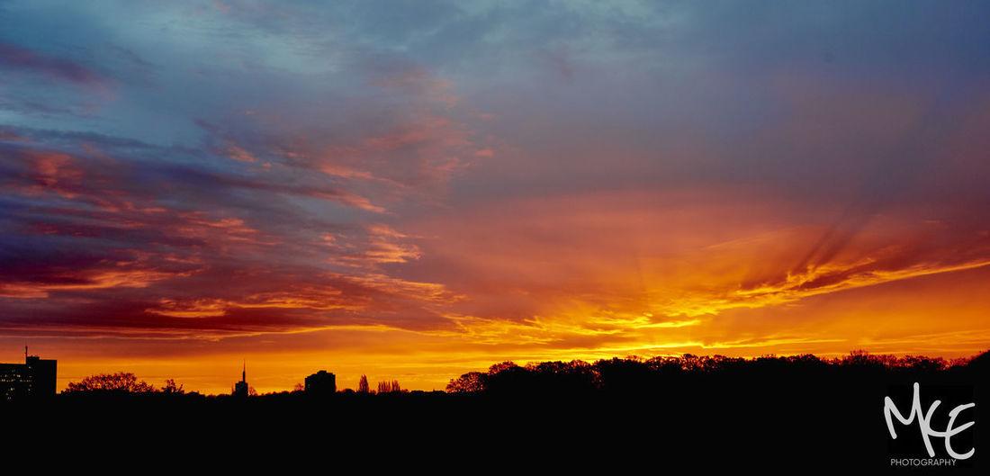 #dawn #hannover Cloud - Sky No People Orange Color Sky