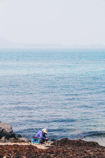 Alone Jeju Jeju Island, Korea Korean Seaweed South Korea Blue Coast Cultures Haenyeo Island One Person Sea Women My Best Photo