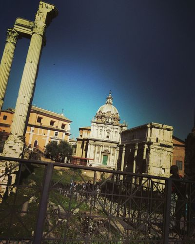 Palatine Rome Columnas Palatine Roma Roma Palatino Architecture Built Structure Travel Destinations Tourism City High Angle View Dreaming Italia Romeitaly Roma Roadtorome History Tb