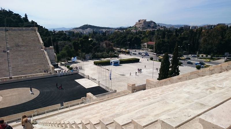 Olympic Stadium Greece Athens Old Holidays Vacation Sky Sun Summer Beautiful Weather Hanging Out Taking Photos Check This Out