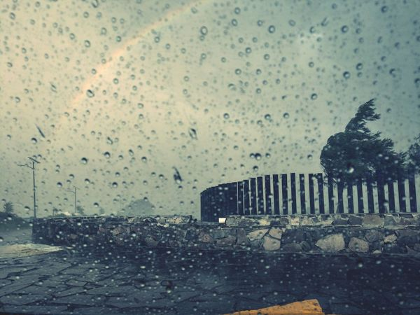 Rainbow Rain Windows